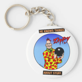 Zippy knows things.... basic round button key ring