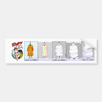 Zippy:Let It Snow bumper sticker