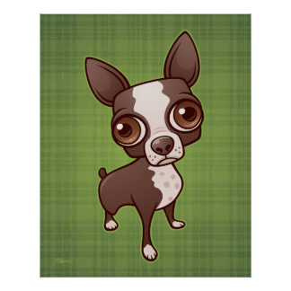 Zippy the Boston Terrier Poster