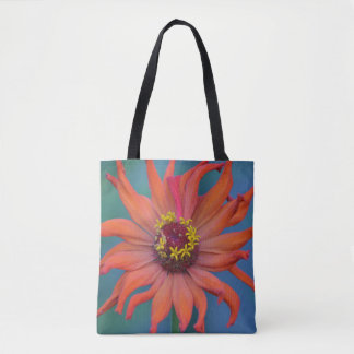 Zippy Zinnia Tote Bag