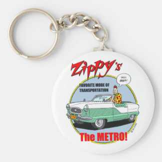 Zippy's Metro Basic Round Button Key Ring