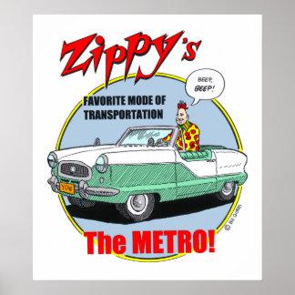Zippy's Metro Poster