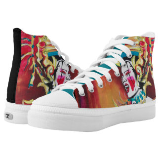Zips, high top shoes, CSD2 Printed Shoes