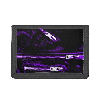 Zips Purple print wallet