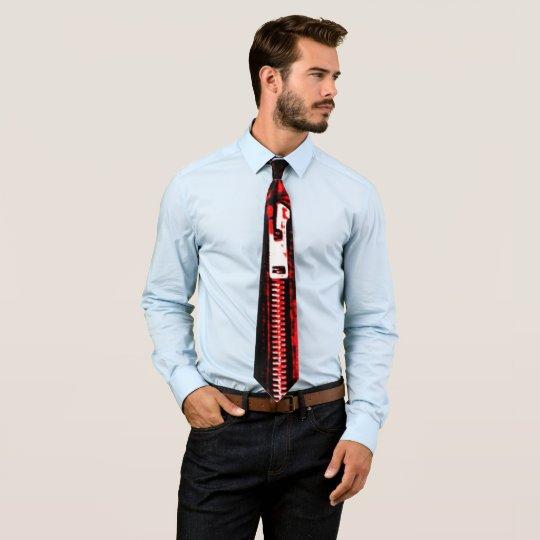 Zips Red print tie