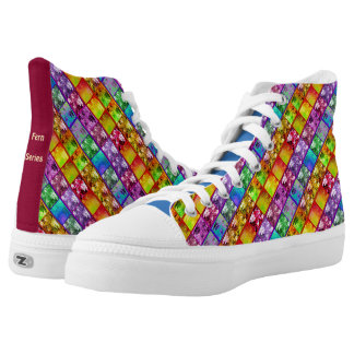 Zipz High Top Canvas Shoes Fern Series Printed Shoes