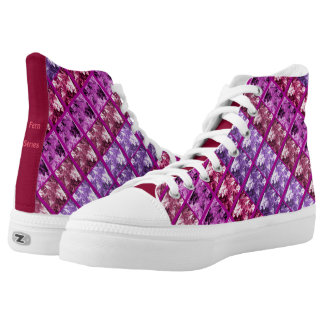 Zipz High Top Canvas Shoes Fern Strip Printed Shoes