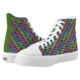 Zipz High Top Canvas Shoes Ivy Leaf Colour Series Printed Shoes