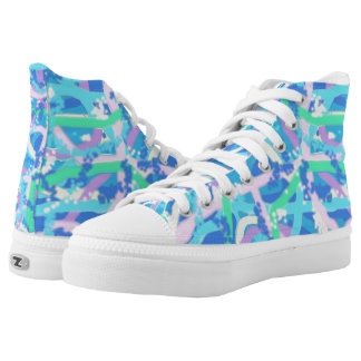 Zipz High Top Shoes Allover Underwater Design