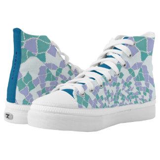 Zipz High Top Shoes BeDazzle Design Blue Printed Shoes