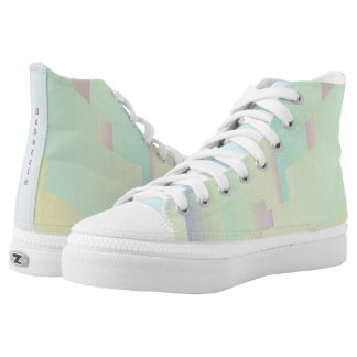 Zipz High Top Shoes BeDazzle Pastels Printed Shoes