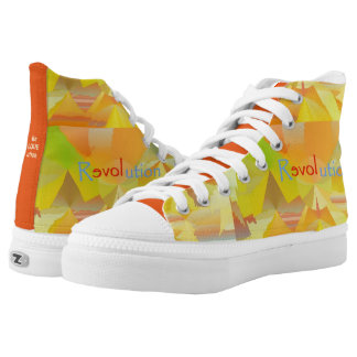 Zipz High Top Shoes ReLOVEution Abstract Design Printed Shoes