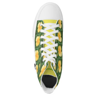 Zipz High Top Shoes Sweet Yellow Flower Photo
