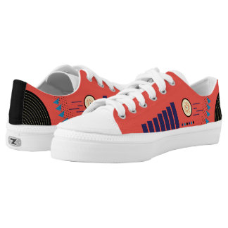 Zipz Low Top Modern Colorful Geometric Fun Shapes