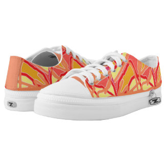 Zipz Low Top Shoes Chaos into Form Pink design Printed Shoes