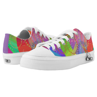 Zipz Low-Top Shoes Circle-Dash Design Printed Shoes