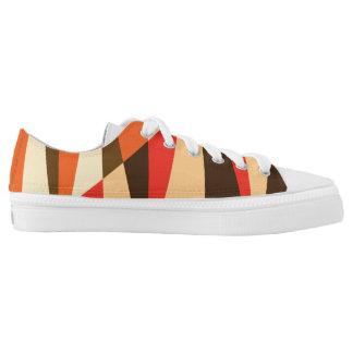 Zipz Low Top w Modern Colorful Geo Desert Pattern Printed Shoes