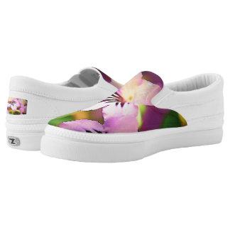Zipz Slip-on Purple Flowers Printed Shoes