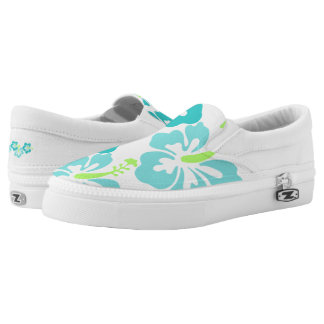 ZipZ Slip On Shoes-Hawaiian Flowers