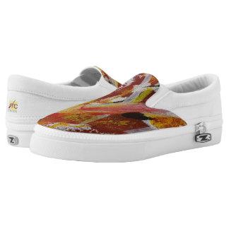Zipz slip on shoes - multi-color - modern art