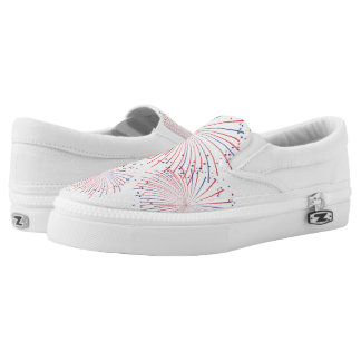 ZipZ Slip On Shoes-Patriotic Fireworks