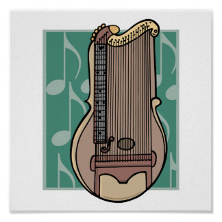 zither harp poster