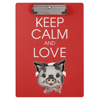ZivaPig Keep Calm Clipboard