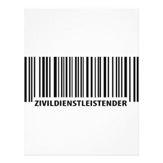 Zivildienstleistender barcode label icon flyer