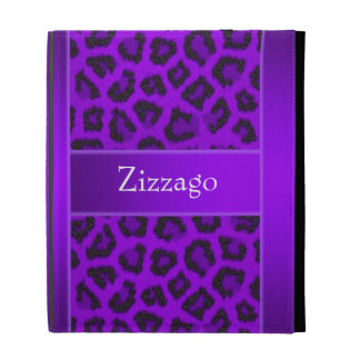 Zizzago Ipad Case Purple Black Leopard