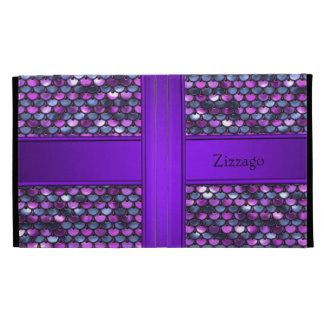 Zizzago Ipad Case Purple Sequins Look