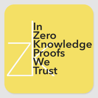 zk We Trust Sticker
