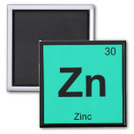Zn - Zinc Chemistry Periodic Table Symbol Element Refrigerator Magnets
