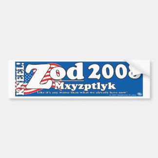 Zod-Mxyptlyk 2008 Bumper Sticker