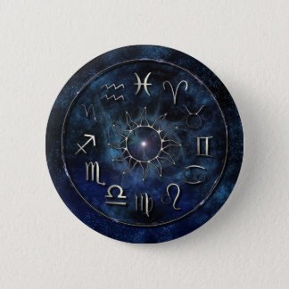Zodiac 6 Cm Round Badge