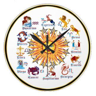 Zodiac 6 Colors Clock