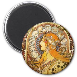 Zodiac - Alphonse Mucha Magnet