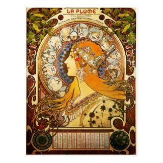 Zodiac - Alphonse Mucha Postcard
