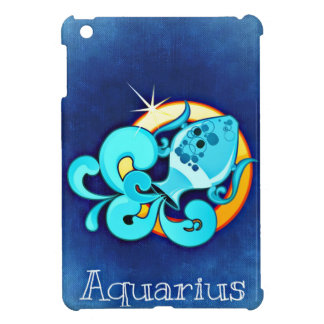 Zodiac Aquarius Cover For The iPad Mini