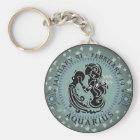 Zodiac Aquarius Key Ring