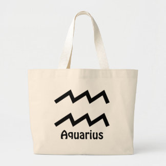 Zodiac - Aquarius Sign Large Tote Bag