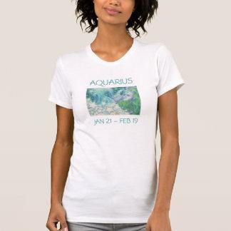 Zodiac Aquarius t-shirt ladies text