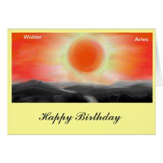 ZODIAC Aries, Aries birthday map Note Card
