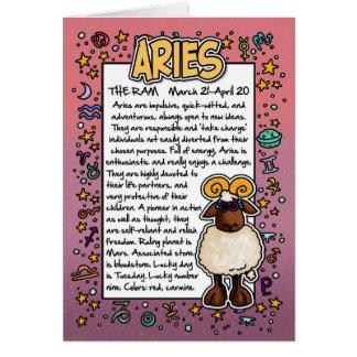 Zodiac - Aries Fun Facts Greeting Card