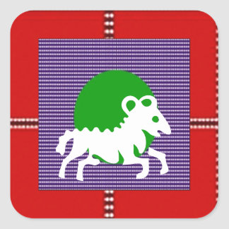 ZODIAC ARIES Jyotish  Astrology Square Sticker