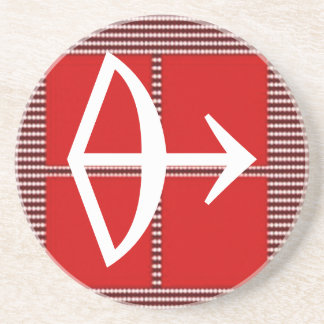 ZODIAC Arrow Sagittarius Astrology Beverage Coaster
