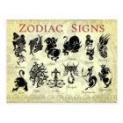 Zodiac (Astrological) signs Postcard