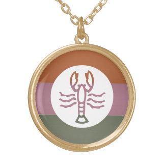 Zodiac Astrology Scorpio Round Pendant Necklace
