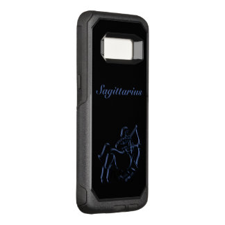 Zodiac Astrology Sun Sign Sagittarius Steel Blue OtterBox Commuter Samsung Galaxy S8 Case