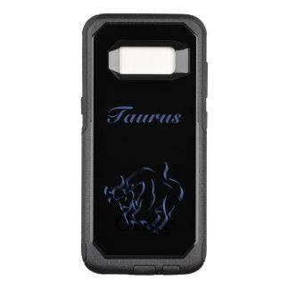 Zodiac Astrology Sun Sign Taurus Steel Blue Black OtterBox Commuter Samsung Galaxy S8 Case