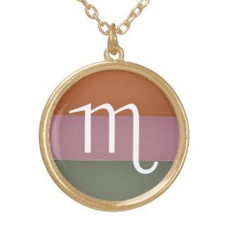 Zodiac Astrology Symbol : BirthStar Goodluck Charm Gold Plated Necklace